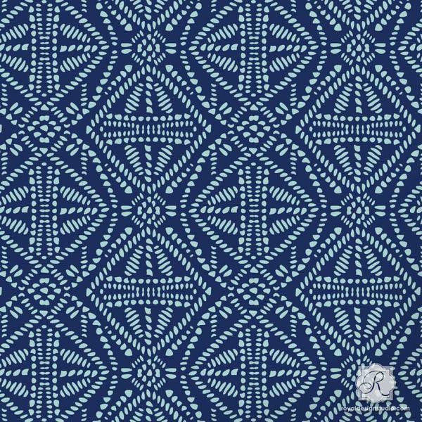 Tribal Batik Allover Craft Stencil