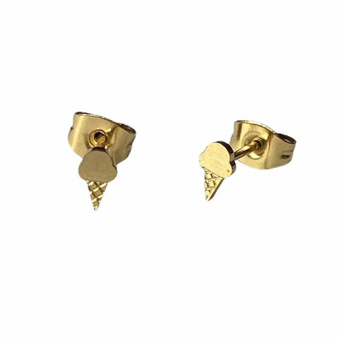 Icecream Earring Studs - Silver Or Gold