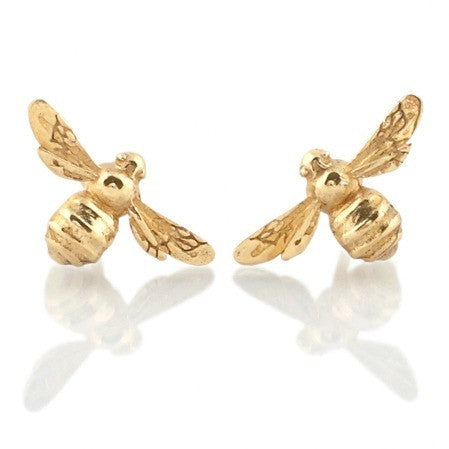 Collect Bowerbird Bee Stud Earrings - Gold
