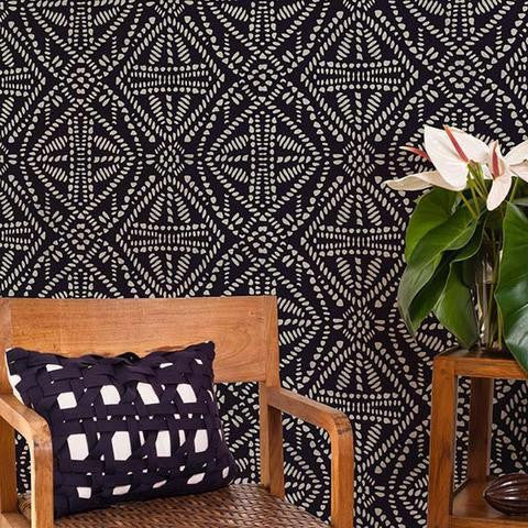 Tribal Batik Allover Wall Stencil - Large
