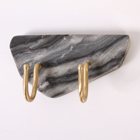 Tectonic Marble Wall Hook - Grey