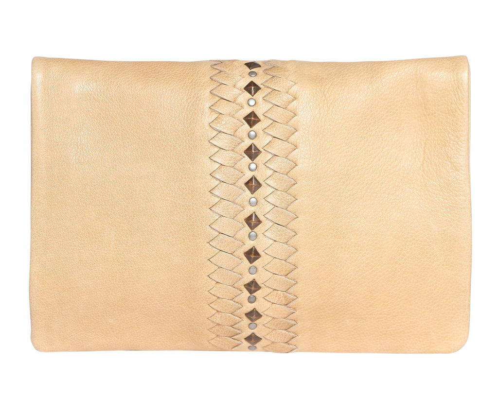 Modapelle Leather clutch Cross body - Tan & Honey