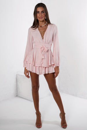 Make It Happen Playsuit Pink