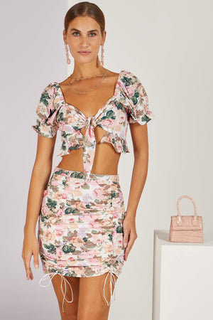 Edie Floral Co-ord Top & Skirt