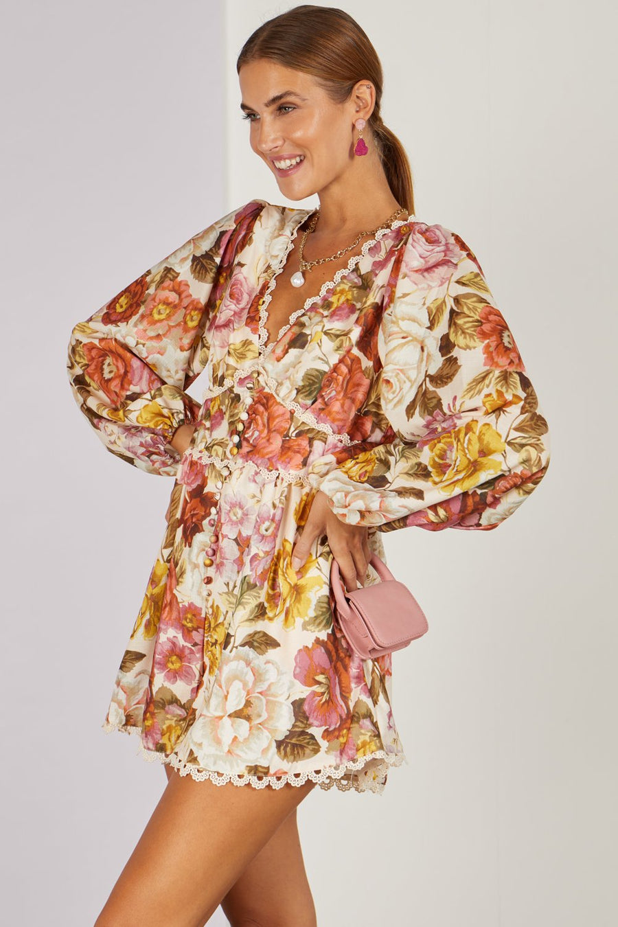 In Your Presence Vintage Floral Playsuit Multi