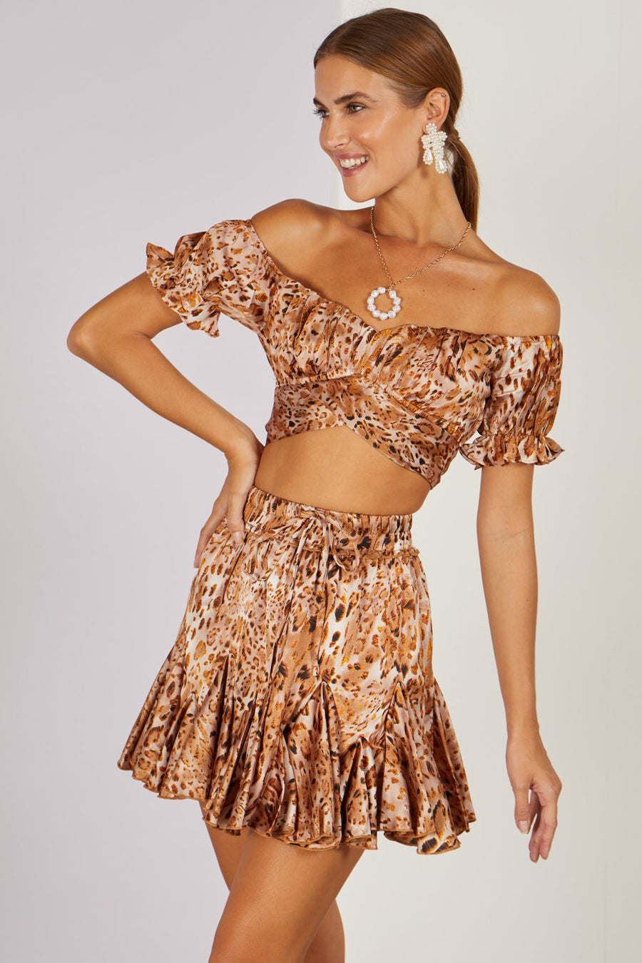 Walk On The Wild Side Top Leopard Tan