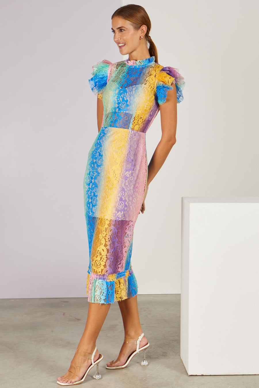 Shantelle Lace Midi Dress Multi