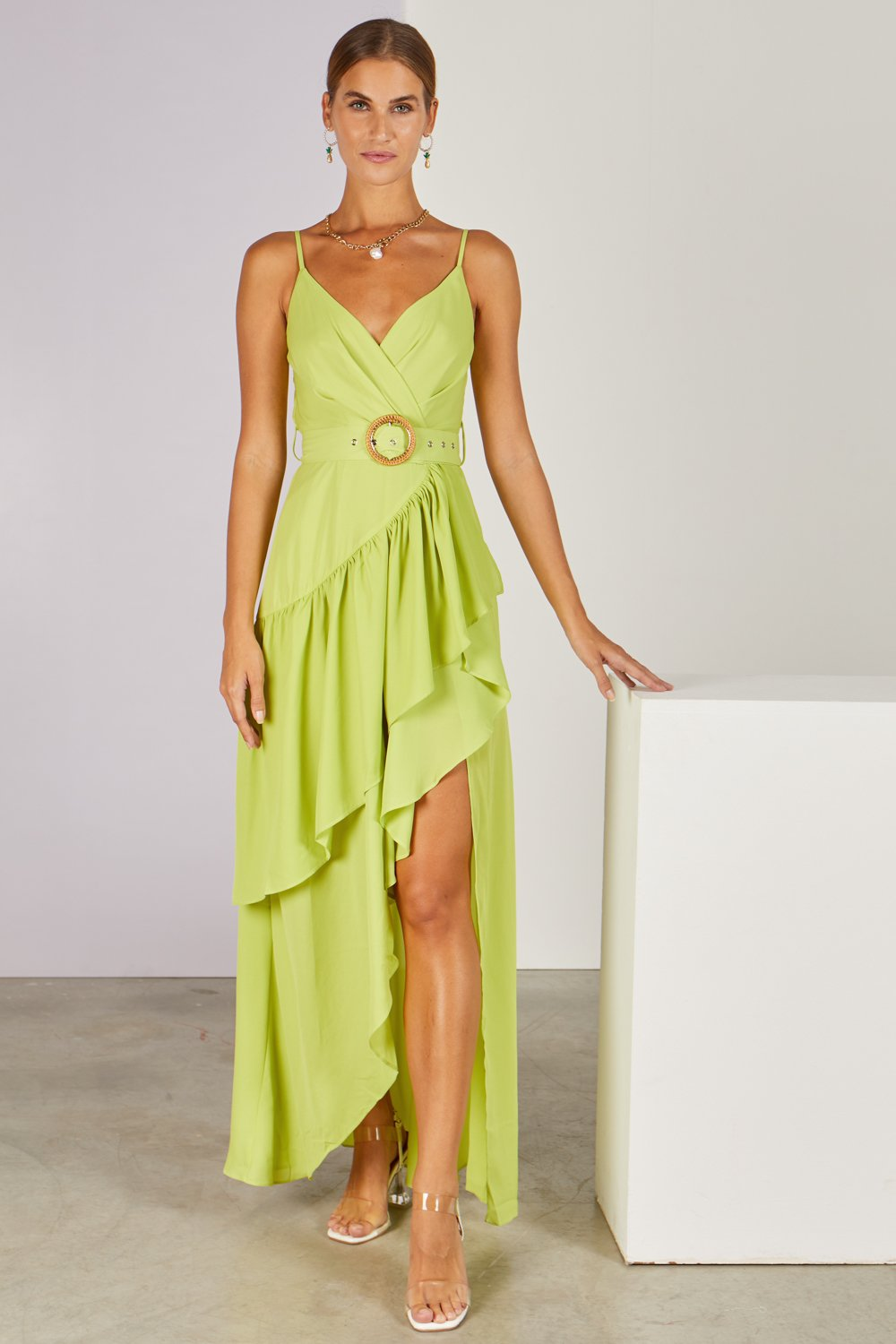 Pitaya Midi Dress Lime