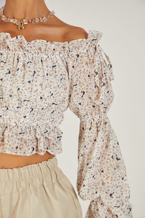 Carmel Off Shoulder Crop Top
