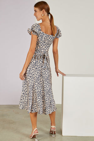 Can't Be Tamed Leopard Midi Dress