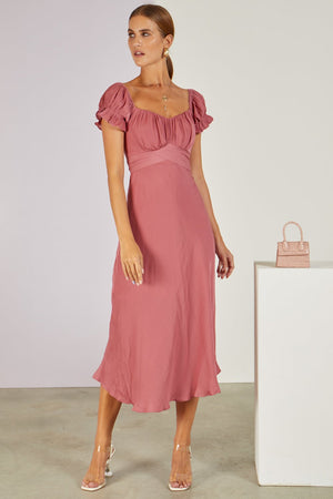 Meet The In Laws Midi Dress Rose