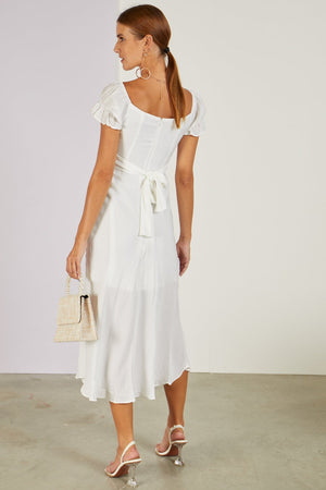 Meet The In Laws Midi Dress White