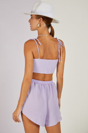Dani Dyer Never Ending Summer Crop Top Lilac