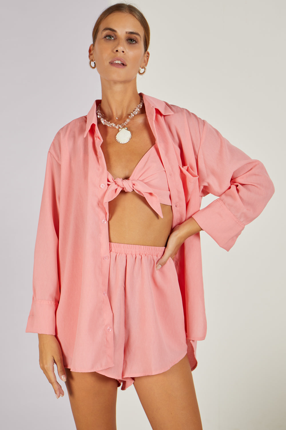 Dani Dyer Never Ending Summer Shirt Coral