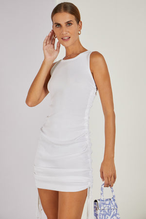 Dani Dyer Take Me With You Mini Dress White