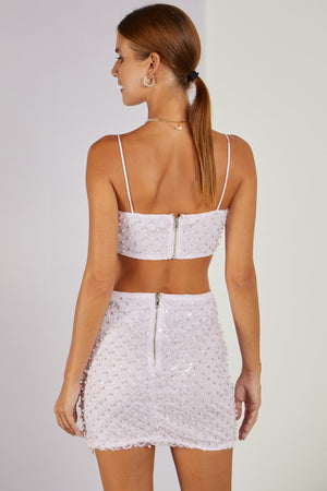 Take Your Fancy Top & Skirt Pearl Co-ord Pink