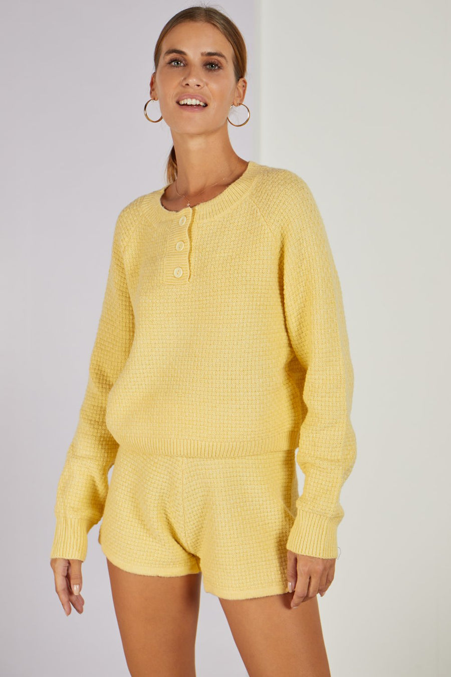 Maryland Knitted Co-ord Set Lemon