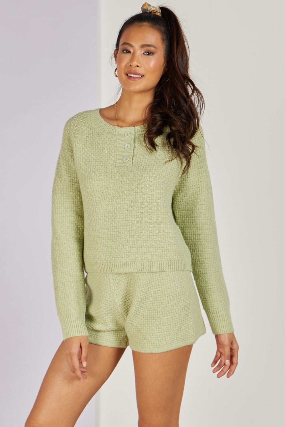 Maryland Knitted Co-ord Set Lime