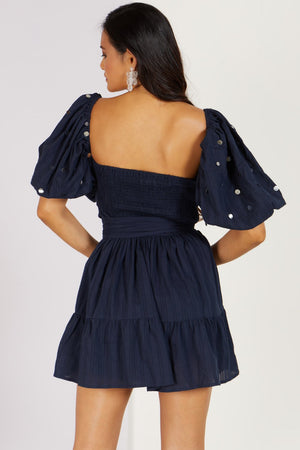 Lucky Penny Mini Dress Navy