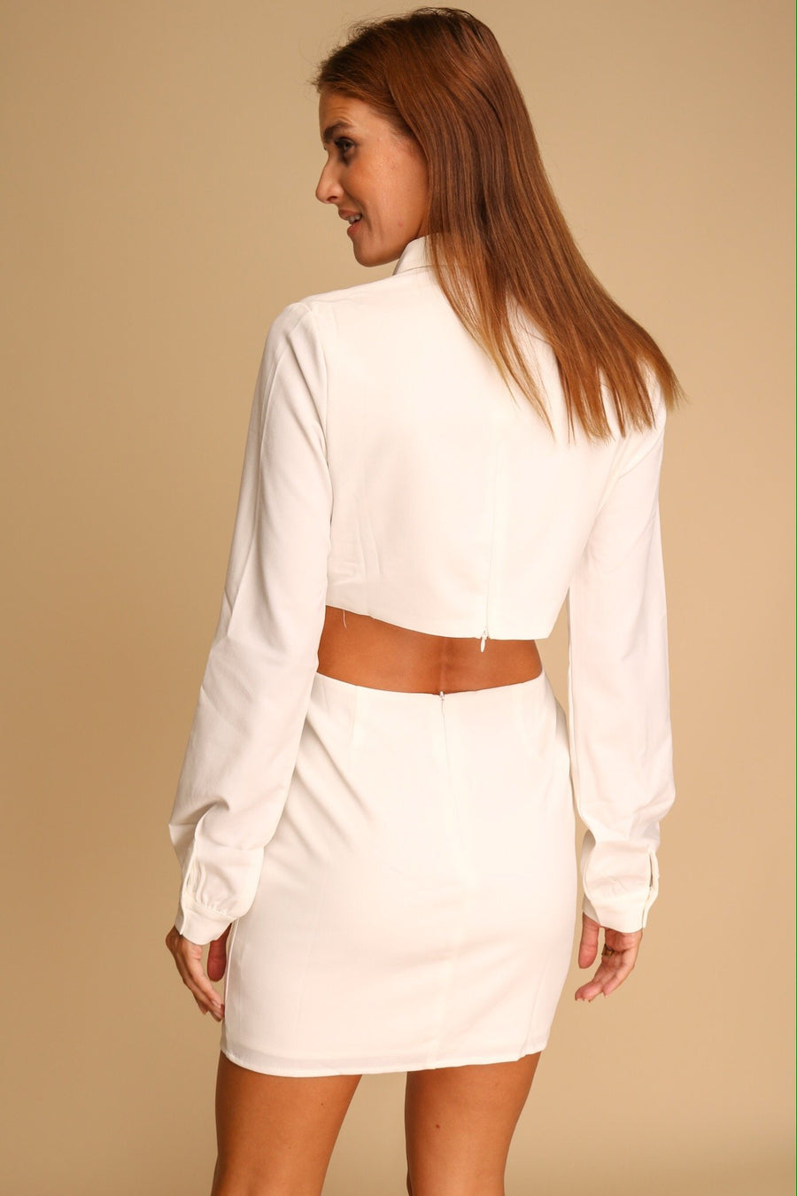 Be Without You Cut Out Mini Dress White
