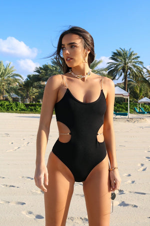 Monaco Glow Swimsuit Black
