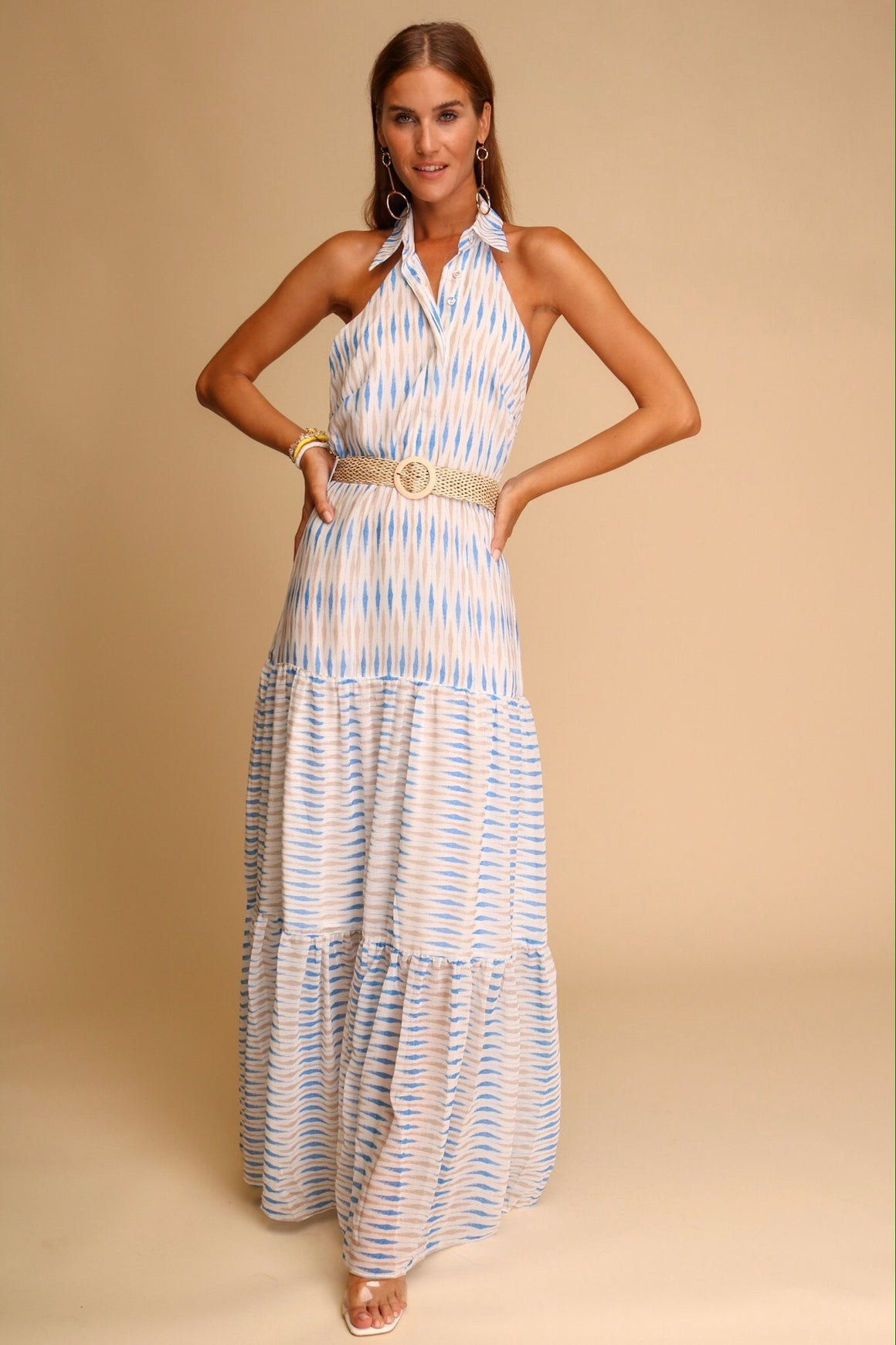 Pictures In Santorini Maxi Dress