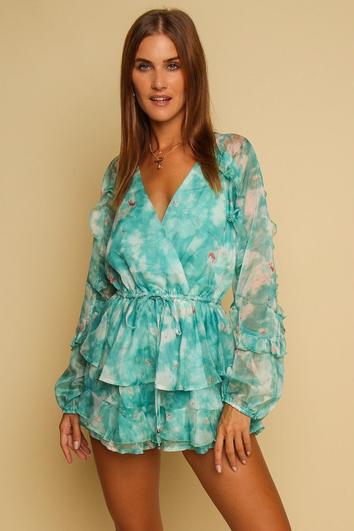 Lost In The Moment Playsuit Turquoise