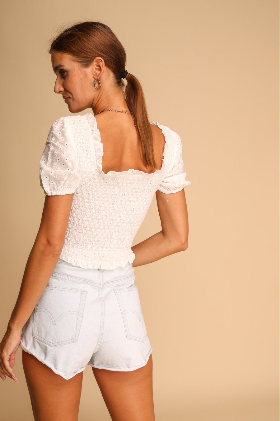 Cup Of Sugar Crop Top White