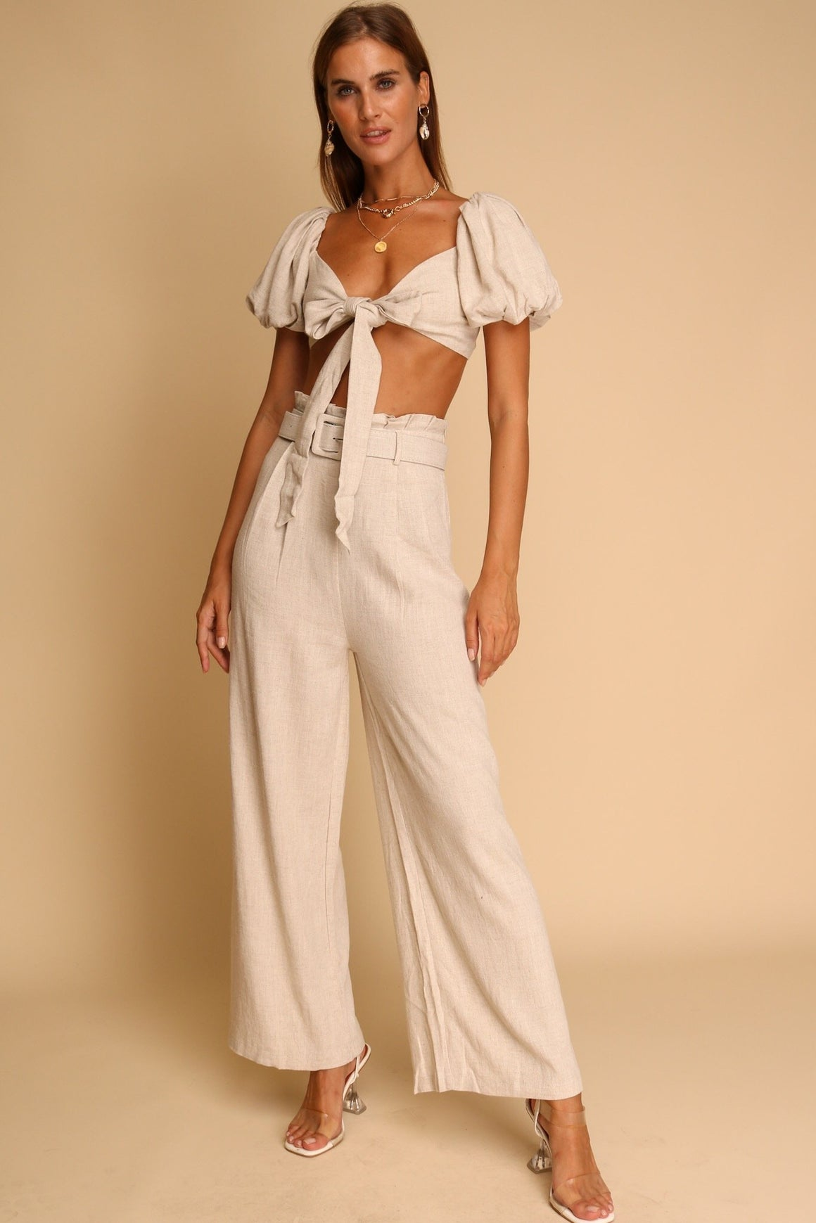 Cayman Top & Pants Co-ord Beige