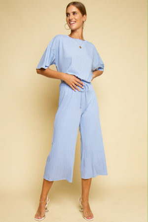 Take It Easy Jersey Co-ord Sky