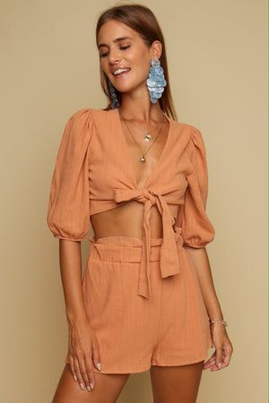 Sugar & Spice Top & Short Co-ord Rust