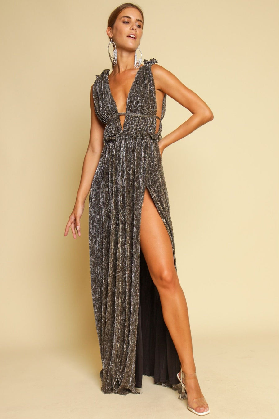 One Past Midnight Maxi Dress Black