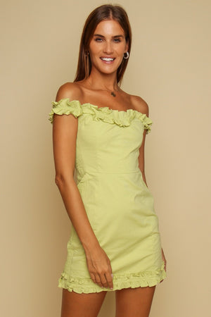 Summer Delight Mini Dress Lime