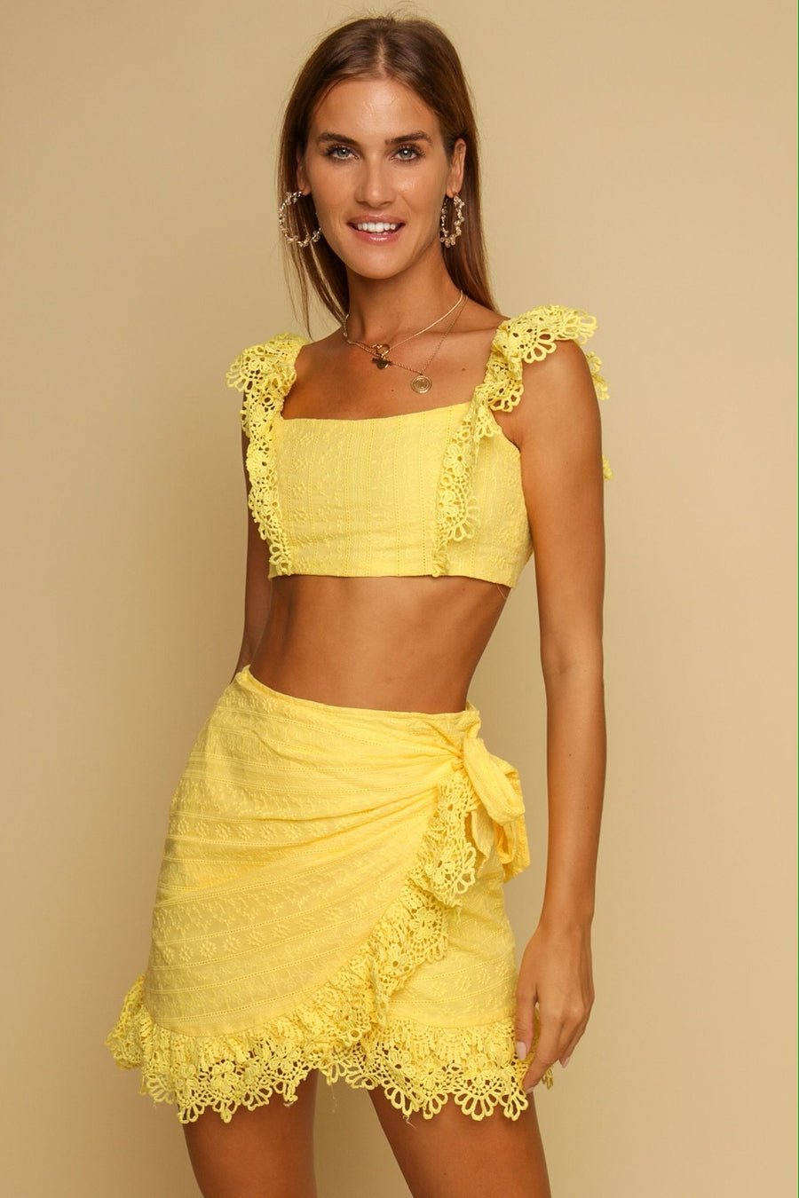 Mykonos Top & Skirt Co-ord Yellow