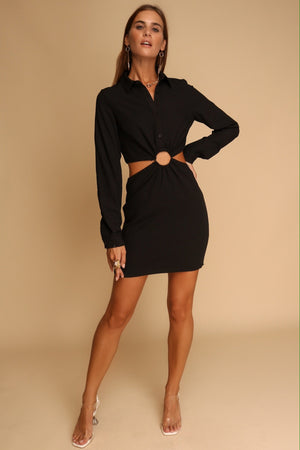 Be Without You Cut Out Mini Dress Black