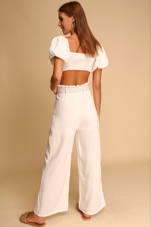 Cayman Top & Pants Co-ord White