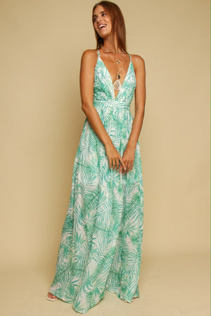 Life's A Breeze Maxi Dress Green