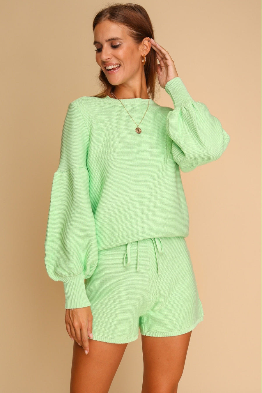 Take Me Anywhere Knitted Co-ord Set Mint