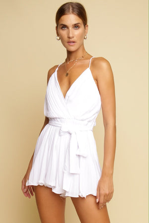 Completely Fallen Playsuit White