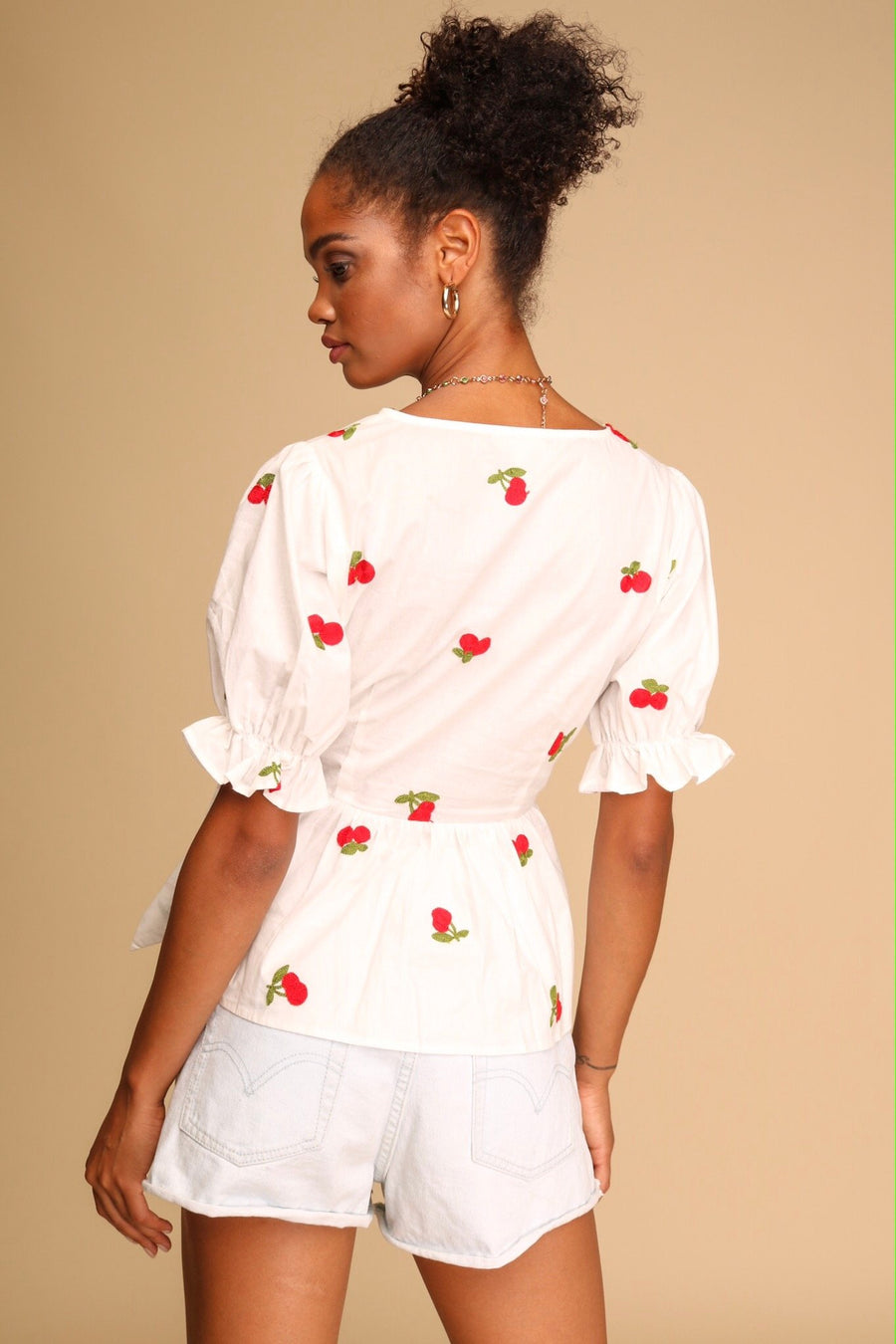 Sweet Cherry Pie Peplum Top