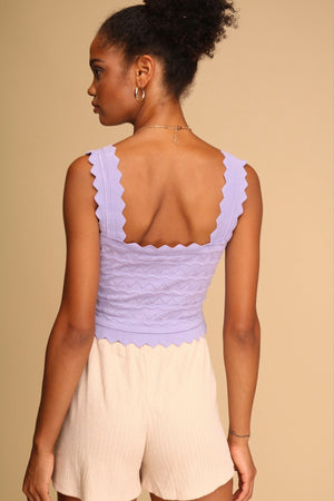 Melody Knitted Crop Top Lilac
