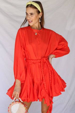 Two Can Play That Game Dress Coral/Red