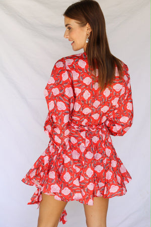 Two Can Play That Game Dress Floral Red