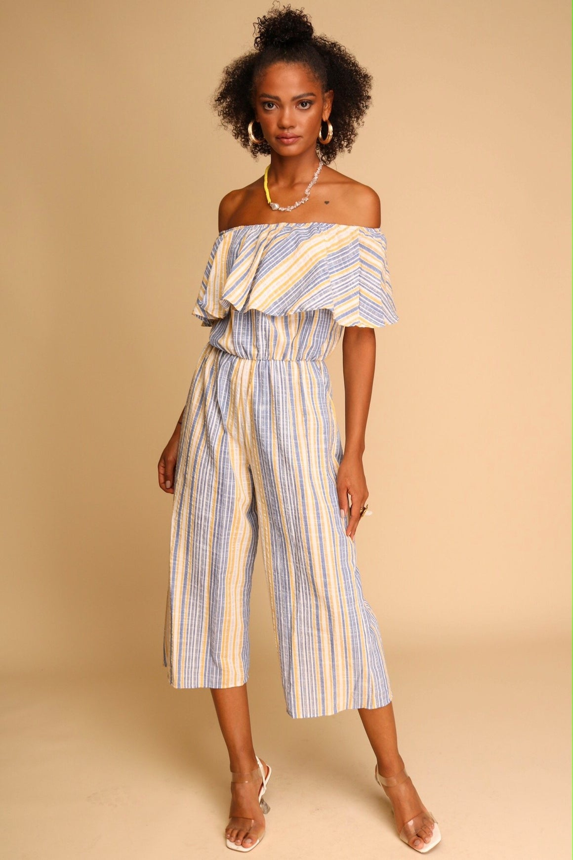 Exploring Prague Jumpsuit Blue Stripe