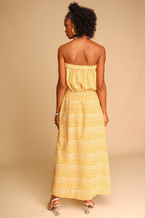 Sundowners Midi Dress Mustard