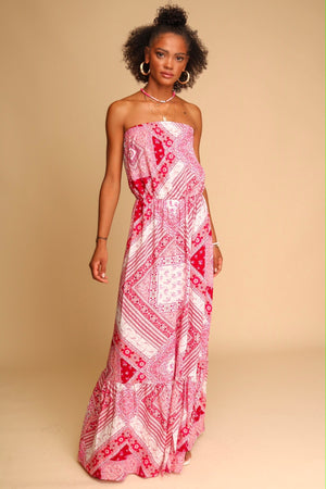 Zephyr Maxi Dress Red
