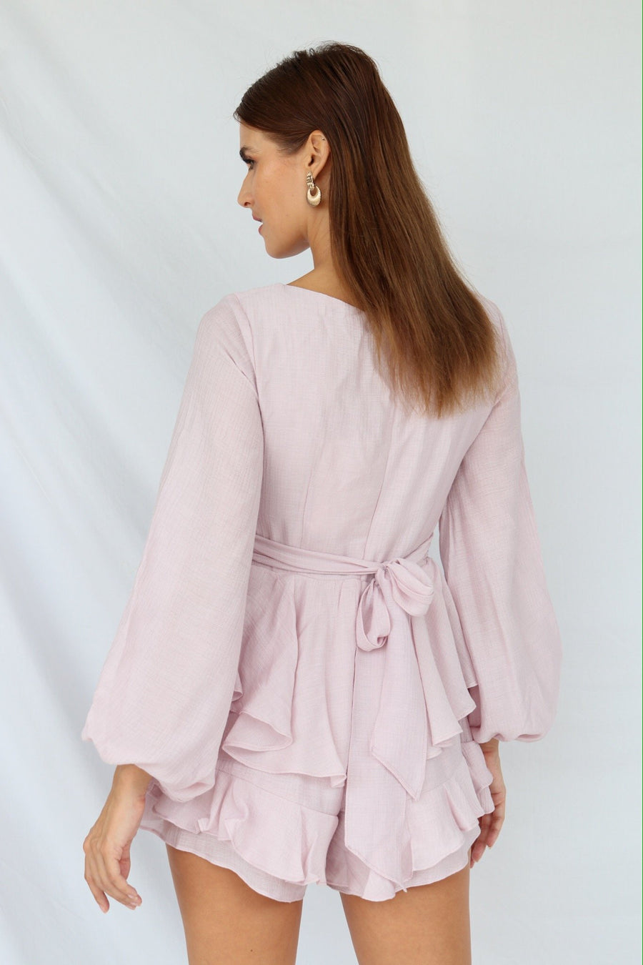 Kayleigh Ruffle Layered Playsuit Blush