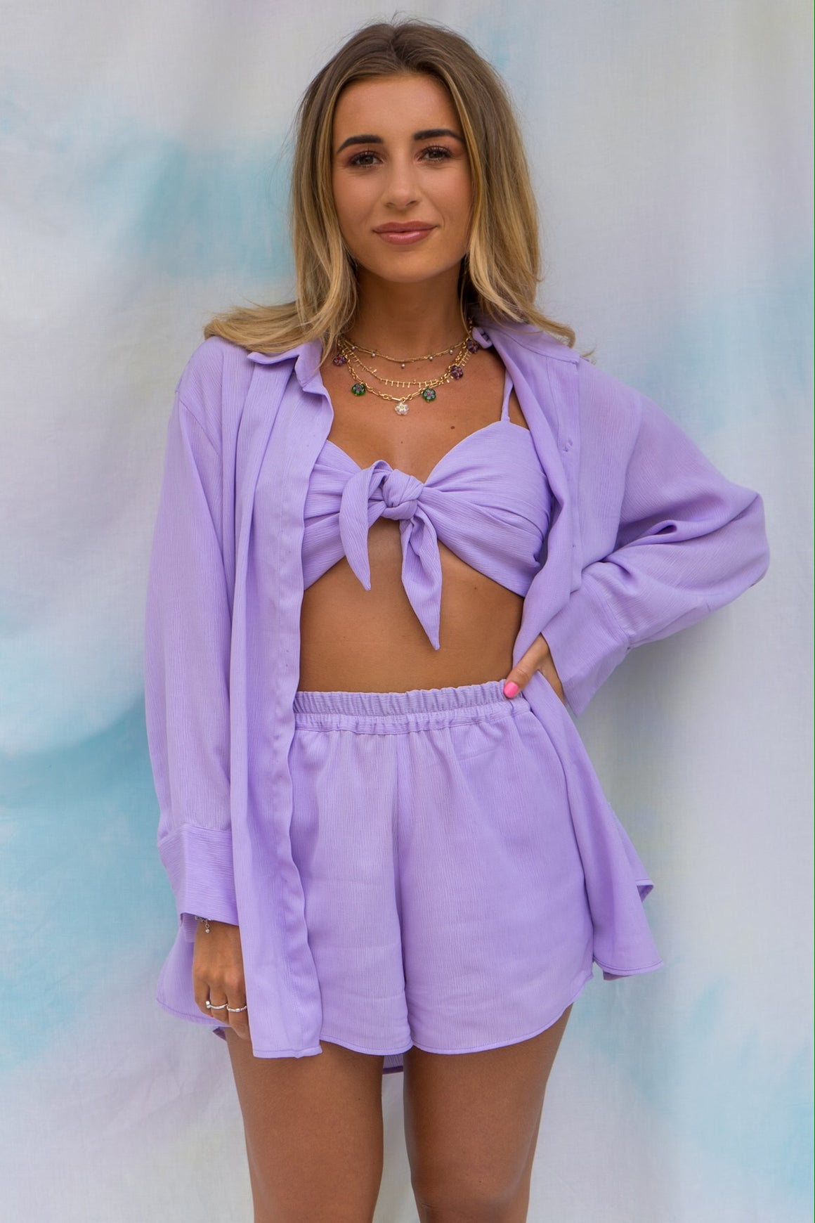 Dani Dyer Never Ending Summer Shirt Lilac