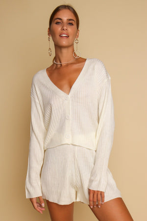 Count Me In Knitted Co-ord Set Cream