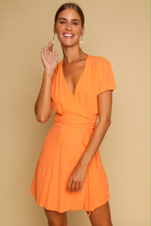 A Little Bit Sunkissed Mini Dress Orange